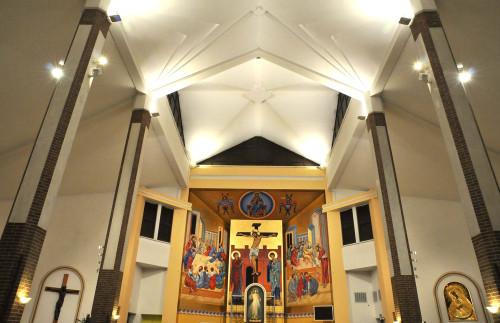 Parafia pw. Chrystusa Sługi w Ełku, Sanktuarium Miłosierdzia Bożego - instalacja elektryczna wewnętrzna i iluminacja świetlna